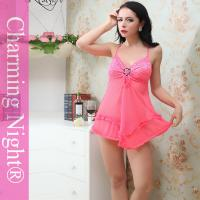Buy cheap Elegant Nylon Polyester Sheer Sexy Babydoll Lingerie For Adult Arab Indian Women from wholesalers