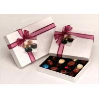 Buy cheap Neat Choclate Custom Packaging Boxes With Ribbon , Packaging Cardboard Boxes from wholesalers