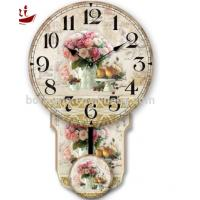 Buy cheap Colorful rose and fruit rice Luxury Exquisite Home Decoration Modern white dial canvas large decorative clock faces from wholesalers