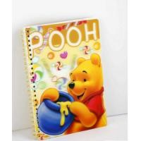 Buy cheap PLASTICLENTICULAR 3d lenticular printed school spiral notebook with depth 3d motion moving flip effect from wholesalers