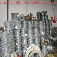 Buy cheap hot-dip galvanized steel coiled barbed wire/2018 hot sale galvanized or PVC coated barbed wire/barbed wire price per ton from wholesalers