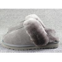 Buy cheap Luxury Men Merino Mens Fur Lined Slippers Comfortable With 7 -11 USA Sizes from wholesalers
