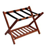 Buy cheap Wood Color Display Folding Luggage Rack , OEM Hotel Metal Luggage Rack from wholesalers