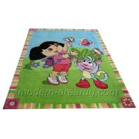 Buy cheap Custom Design Green Patterned Kids Area Rug For Baby Room , Children Play Room Rugs from wholesalers