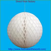 Buy cheap home decoration honeycomb ball white from Wholesalers