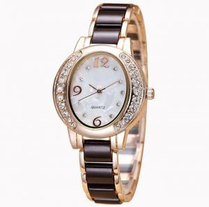 China OEM fashion wrist watch with ceramic watch band, ladies' quartz watch ,Ladies Jewelry Watch on sale