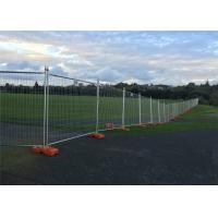 Buy cheap Temporary Fencing OD 32 x 1.40mm  construction fence 2.1mtx2.4mts Mesh 3.00mm*150mm*50mm anti climb mesh from wholesalers