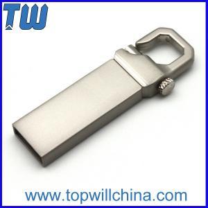 Hotsale Slim Mini Metal Hook Usb Flash Drive Delicate Design for Gifts
