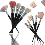 Buy cheap Black Diamonds Flower Makeup Brush Kit Loose Powder Makeup Tools Synthetic Hair from wholesalers