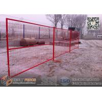 Buy cheap 8ft Temporary Construction Fencing with 1 square tube frame and high visible RED color from wholesalers