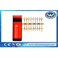 Red And Black Automatic Traffic Car Park Entrance Barriers For Parking Lot System