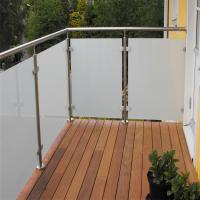 Buy cheap SGCC certificate stainless steel post glass railing Residential balcony project safty stainless steel post glass railing from wholesalers