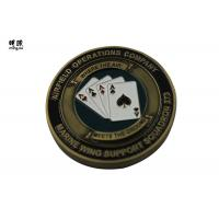 Buy cheap Bronze Plating Poker Chip Challenge Coins Customised Copper Heavy Weight product