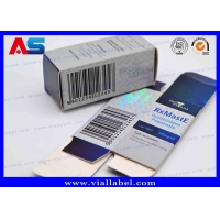 Buy cheap Labels Boxes For 10ml Vials Custom Pharmacy Steroids Designs Laser Holographic Metalic Blue Box from wholesalers