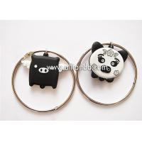 Buy cheap Creative cartoon pig design pvc keychain with bracelet unique luggage tag shape ornaments key ring from wholesalers