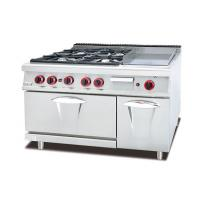 Buy cheap Multi-Functional Western Kitchen Equipment Gas Range With Griddle / Grill Combination from wholesalers