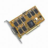 Buy cheap PCI Real-time 8CH DVR Card that Supports Still-image Capture for JPG Format, PAL/NTSC System product