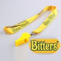 Buy cheap Silk Screen Printing Lanyard Polyester hot sale lanyards whistle cords from wholesalers