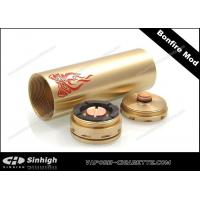 Buy cheap Bonfire Mod Mechanical Mod E Cig 26500 Battery Tube 30mm Copper Golden Clone Mod from wholesalers
