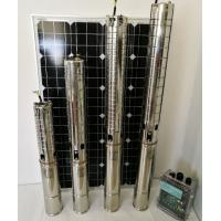 Buy cheap 4 Inch DC Solar Deep Well Submersible Pump , Solar Powered Water Pump For Irrigation from wholesalers