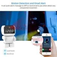 Buy cheap Robot wifi cctv ip wireless camera with alarm clock  smart home robot camera from wholesalers