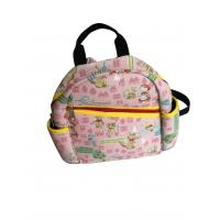 Buy cheap Pink neoprene kids backpack with fairy tale scene heat-transfer printing on whole bag from wholesalers