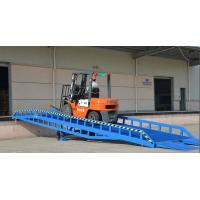 Buy cheap 8 ton capacity china hydraulic mobile dock yard ramp for forklift from wholesalers