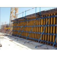 Buy cheap 60KN/m2 Retaining Concrete Wall Formwork Timber Beam Wall Formwork , Waterproof 55-60kg/m2 from wholesalers