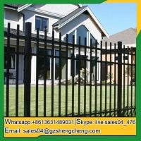 China Laverton Cheap wrought iron fence panels front yard Fence panels square tube fencing on sale