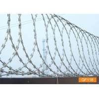 Buy cheap BTO-22 Galvanized Razor Wire Coils Concertina Barbed Wire from wholesalers