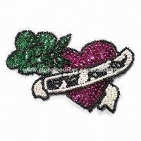 Buy cheap Twill Motif with Crystal, Paillette, Beads and Sequins, Ideal for Garment Decorations from wholesalers