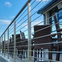 Quality SS316 Material Exterior hand railing systems with solid rod design for sale