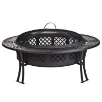 Buy cheap Outdoor Garden leisure party New steel table fire pit with screen and cover from wholesalers