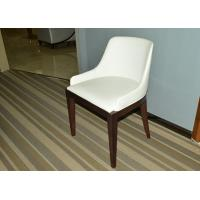 Buy cheap Solid Wood Restaurant Furniture White Dining Room Chair With Leather Seat from wholesalers