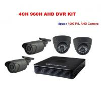 China 1000TVL AHD Cameras Analog High Definition DVR CCTV Cameras Kit System on sale