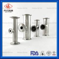 Buy cheap SS304 316L Sanitary Stainless Steel Pipe Connector 90 Degree Clamped Tee from wholesalers