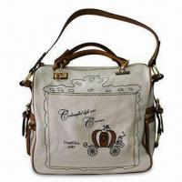 Buy cheap Canvas Handbag with Adjustable Strap and Crystal Decoration from wholesalers