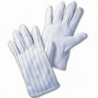 Buy cheap Dissipative Safety Glove, Non-linting, Available in S to L, Made of Polyester from wholesalers