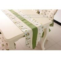 Buy cheap Linen cotton fabric table runners with tassel, custom fabric table runners with lace, from wholesalers