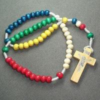 Buy cheap Wood Cord Rosary in Five Colors and Wooden Cross from wholesalers