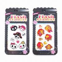 Buy cheap Shinning Glitter Stickers, Eco-friendly and Non-toxic, Easy to Apply and Remove product