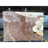 Buy cheap Green grey yellow tiger onyx white marble natural stone slab product