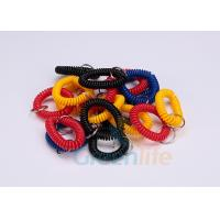 Buy cheap Split Ring Flat Weld Plastic Wrist Coil Badge Accessories Various Colours from wholesalers