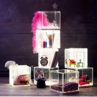 Buy cheap Light weight Acrylic Storage Boxes , decoration clear display boxes from wholesalers