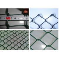 Buy cheap Plain Woven Green Coated Chain Link Fence , Stadium Custom Colors Acid Resistant Fence from wholesalers