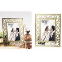 Buy cheap Clear Double Glass Photo Frame , Glass And Metal Picture Frames For Store Decor from wholesalers