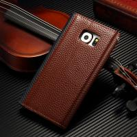 Envelope Style Samsung S6 Leather Wallet Case , Leather Folio Phone Case For Business