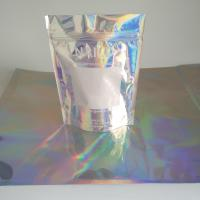 Buy cheap 3 Side Sealed Holographic Mylar Ziplock Bags for Powder Body Scrub Products from wholesalers