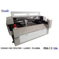 Buy cheap Metal / Fabric Laser Cutting Machine , Industrial CNC Fabric Cutter With Alarm Light from wholesalers