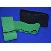 Buy cheap Heavy Duty Elastic Hook And Loop Strap Cinch Straps , Green Black from wholesalers